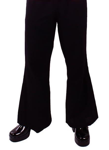 D'elefante Pantaloni it Colore Abbigliamento Zampa Amazon Nero A 8HrHqwE