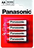 Panasonic AA Zinc Carbon Single Use Batteries 4 pack