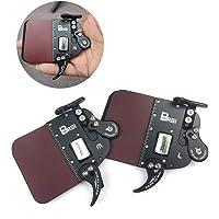 SHARROW Bogenschießen Fingertab aus Leder Fingerschutz Handschuhe Linke Rechte Hand Einstellbare für Bogenjagd Schießen