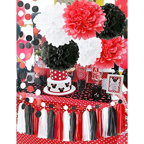 Minnie Mouse Party Supplies White Black Red Baby Ladybug
