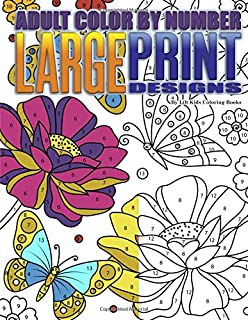 Adult Color By Number Large Print Designs Premium Coloring Books Volume 14