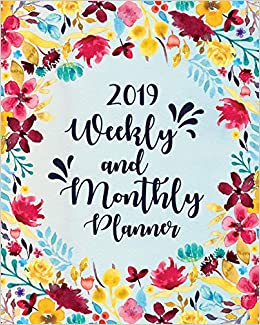 Calendar Lab December 2019 2019 Planner Weekly And Monthly: Sky Blue Blossom Edition