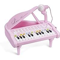 ASTOTSELL Baby Piano Keyboard Toy, Rosa 24 Teclas Niños Piano Instrumentos Musicales con micrófono para niñas Juguetes…