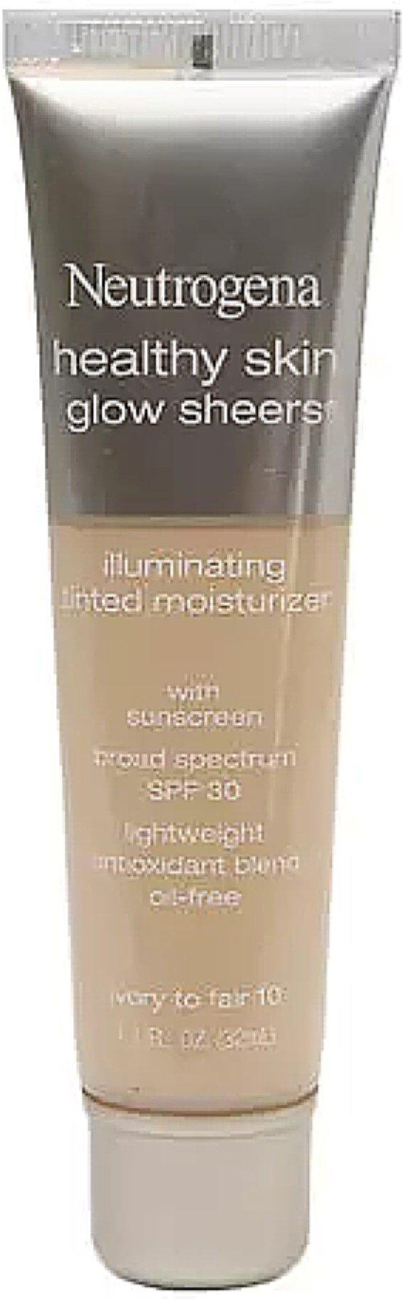 Neutrogena Healthy Skin Glow Sheers, SPF 30, Ivory to Fair [10] 1.1 oz (8 Pack)
