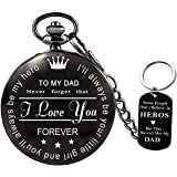 to My-Dad Pocket-Watch-Gifts for Dad Best Gifts for Him -Birthday Gifts, Graduation Gifts for Men,Engraved Pocket Watch with