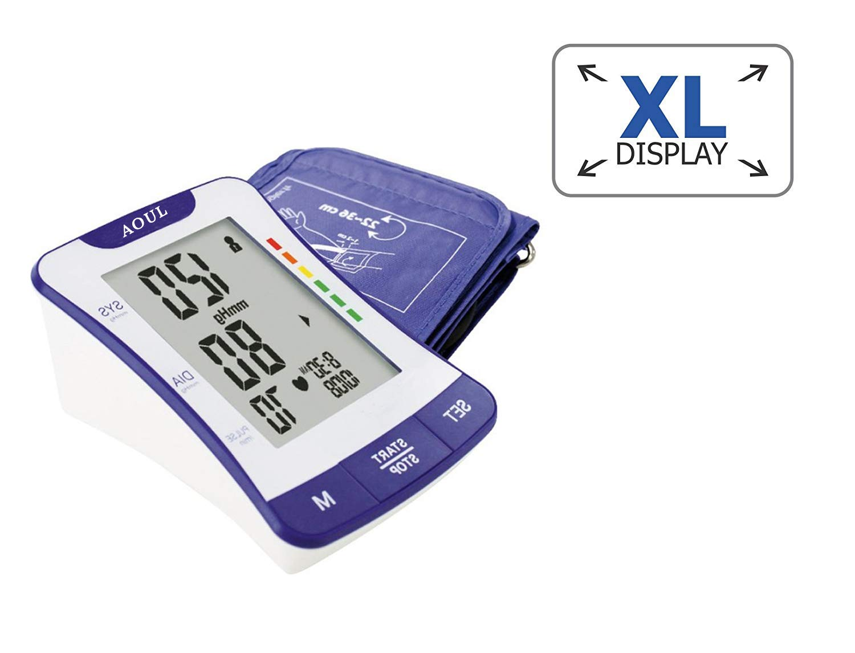 AOUL BP-1307 Tensiómetro de brazo digital con detección del pulso arrítmico, Automático profesional de presión arterial, Gran pantalla LCD, ...
