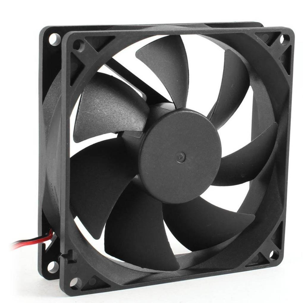 Iusun Mini Fan, 12V Ultra Quiet Computer/PC/CPU Silent Cooling Fan - 8cm/80mm/80x80x25mm (Black)