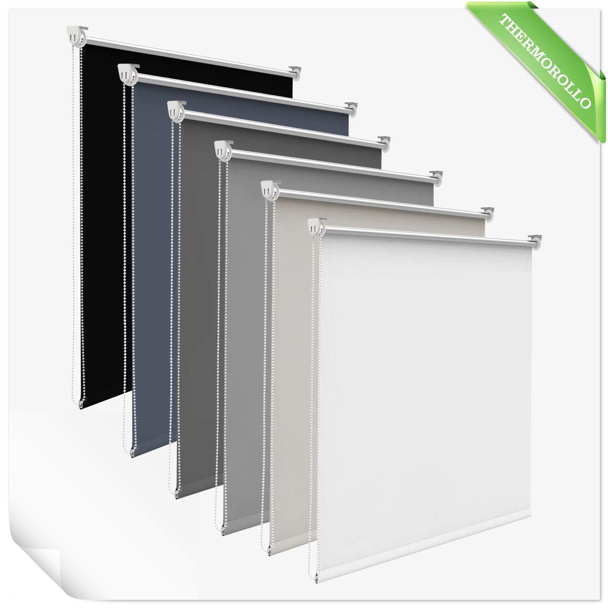Allesin Tenda a Rullo Avvolgibile Oscuranti 45 x 150 cm Beige Opaque Oscurante Fabric Senza Fori Correzione Facile