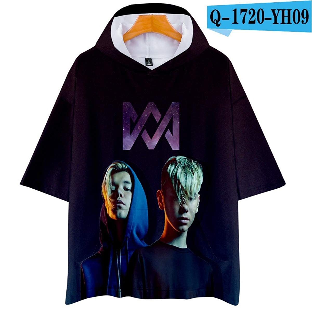 Amazon.com: WEEKEND SHOP Marcus &Martinus 3D Hoodies T-Shirt Oversized Pullover Casual Shirt: Clothing