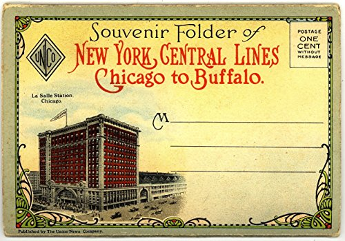 - New York Central Railroad Lines - Chicago to Buffalo (1920's Souvenir Postcard Folder) #2011