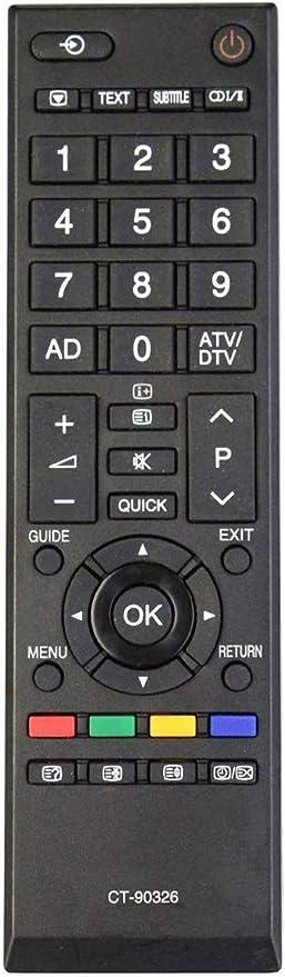 Nuevo Control Remoto Toshiba CT-90326 de reemplazo, no se Necesita configuración TV Control Remoto Universal: Amazon.es: Electrónica