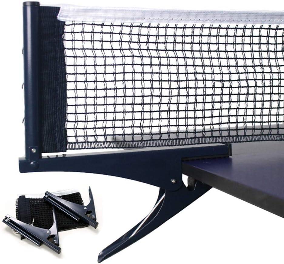 Kilcvt Red retráctil de Ping Pong, Red de Malla de Tenis de Mesa estándar Profesional, Kit de Estante de Red de Mesa de Ping Pong para Accesorios de Tenis de Mesa Tipos de Abrazaderas