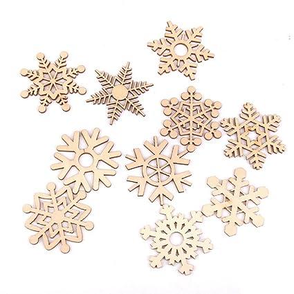 Foto Fiocchi Di Natale.Pixnor Fiocco Di Neve Di Natale Decorazioni Albero Di Natale Ornamenti Di Legno Appeso Confezione Da 10