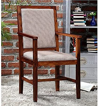 Shilpi Wooden Arm Chair With Cushions(Natural Teak) / Sheesham Wooden Comfort Chair Amazon.in Home u0026 Kitchen & Shilpi Wooden Arm Chair With Cushions(Natural Teak) / Sheesham ...