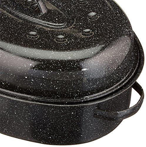Granite Ware 18-Inch Covered Oval Roaster by Columbian Home (Image #2)