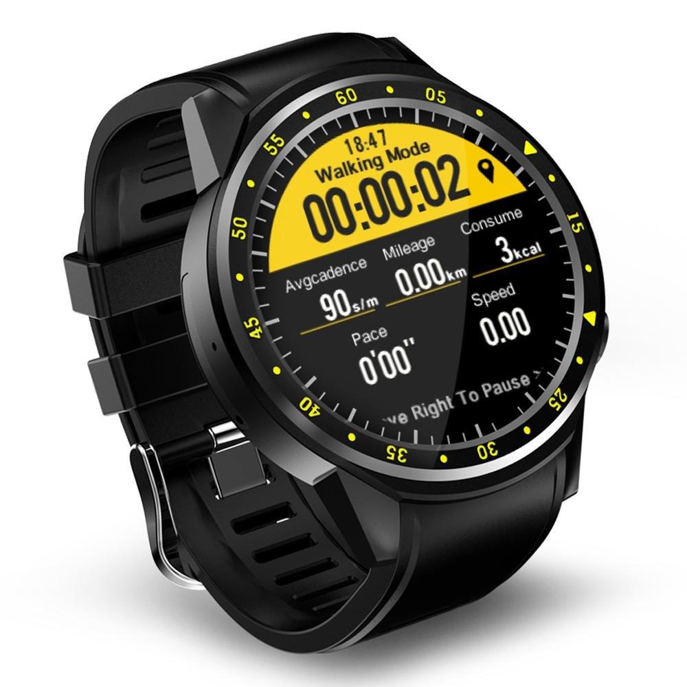 Amazon.com: LayOPO F1 Smart Sports Watch Fitness Tracker, 1.3inch Bluetooth 4.0 Full Round High-definition IPS Touch Screen Bluetooth Smart Watch Blood ...