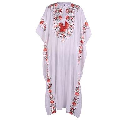 f36cd8c433 Camelia Long Kaftan. Beautiful Long 100% Cotton Designer Kaftan.  Enbroidered with sassy tassel