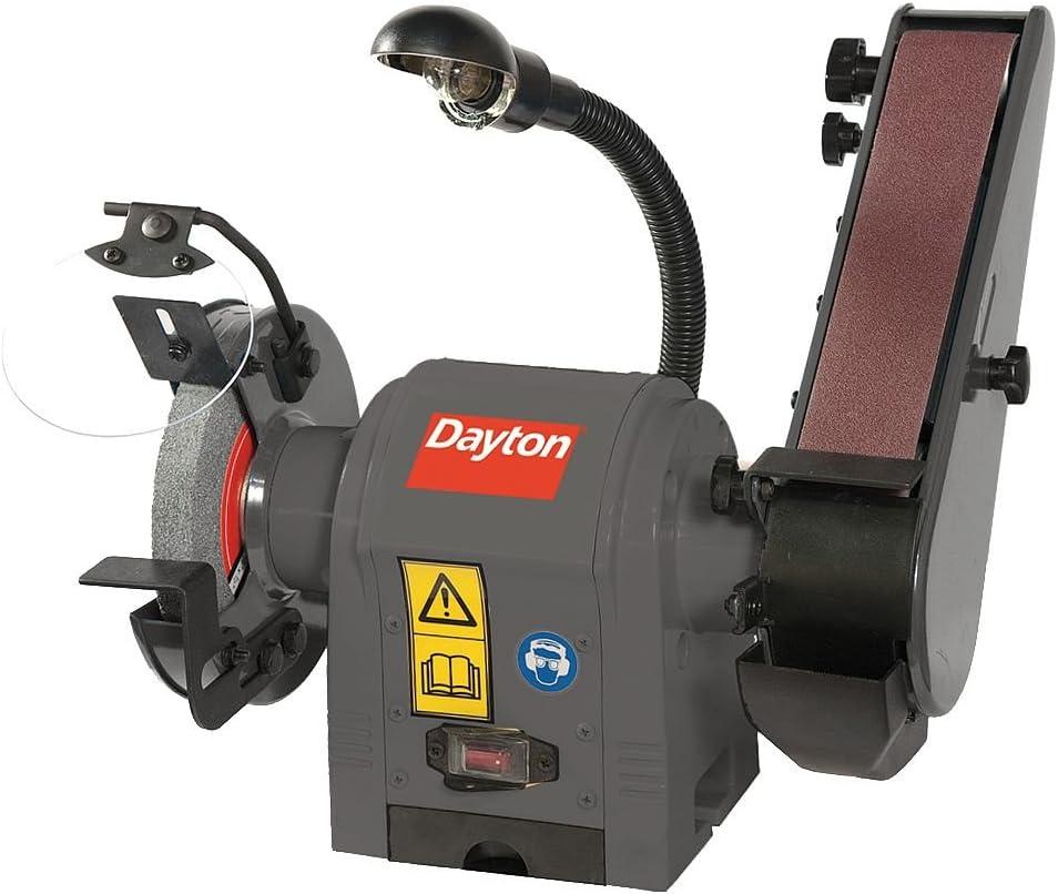Dayton Combination Belt and Bench Grinder, 120V - 49H006