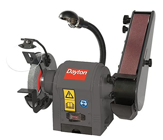 Dayton Combination Belt and Bench Grinder, 120V – 49H006