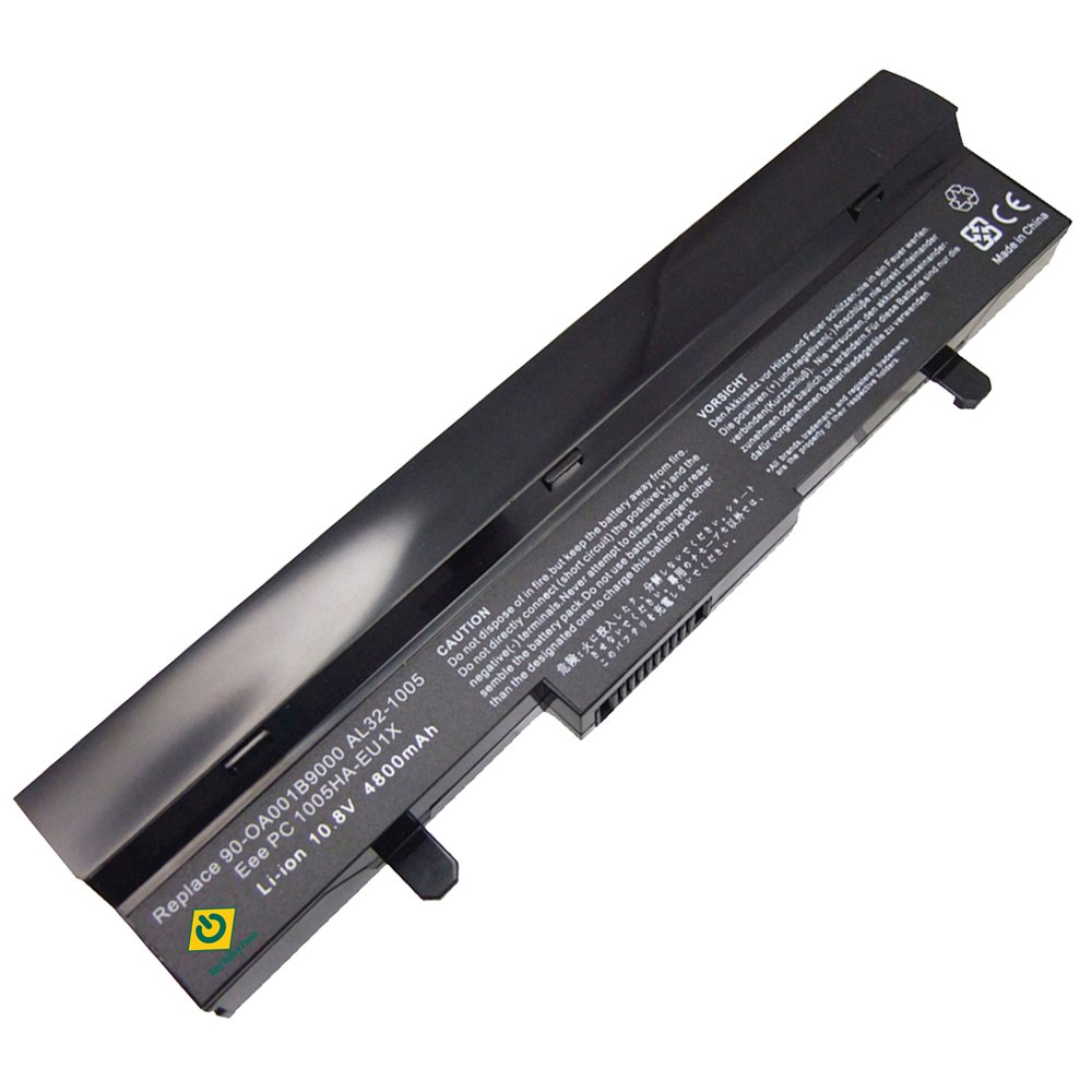 Asus Eee PC 1005 AL31-1005 AL32-1005 1005HAGB 1005HA 1005H 1005HAB 1005HA-A 1101HA 1101HAB 1101HGO 1104HA 1106HA Series 6-cells Replacement NetBook High Capacity Notebook Battery Black