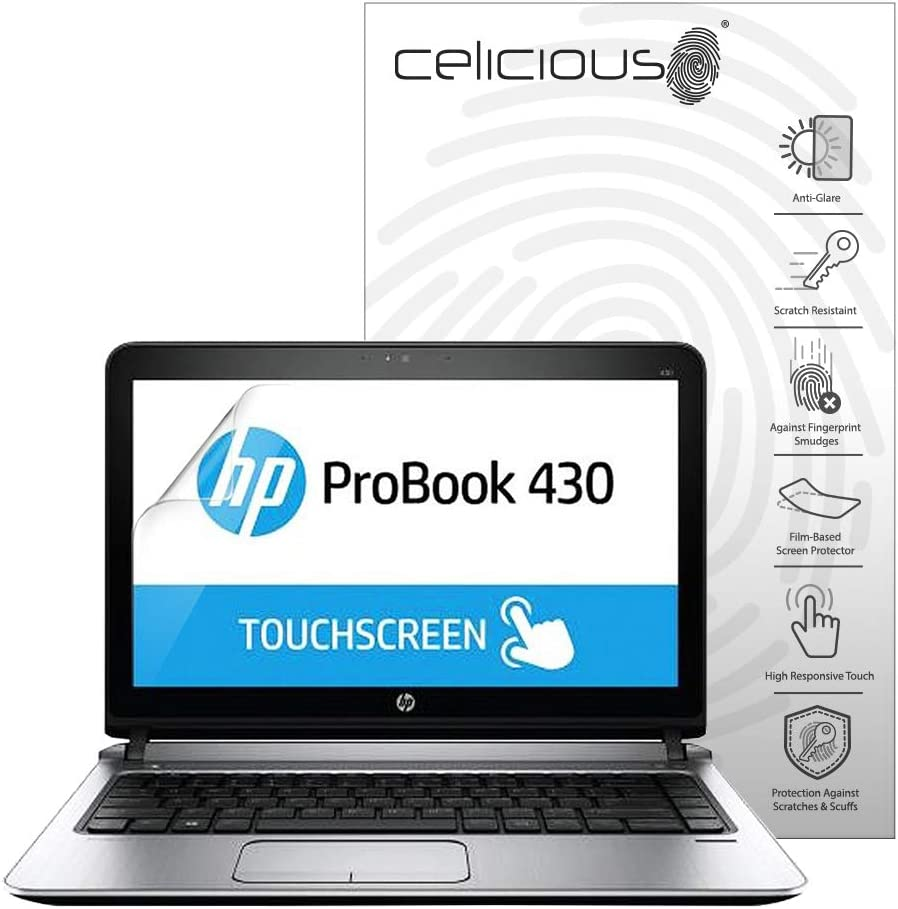 Celicious Matte Anti-Glare Screen Protector Film Compatible with HP ProBook 430 G2 Non-Touch Pack of 2