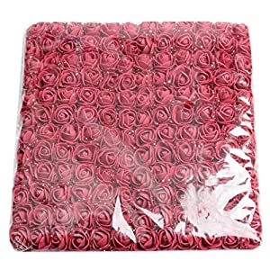 Fityle 144x Artificial Miniature Foam Rose Flower Wedding Bouquet DIY Craft Decor 79