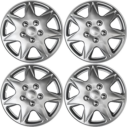 17 inch Hubcaps Best for 2005-2006 Chrysler Pacifica - (Set of 4) Wheel Covers 17in Hub Caps SIlver Rim Cover - Car Accessories for 17 inch Wheels - Snap On Hubcap, Auto Tire Replacement Exterior Cap)