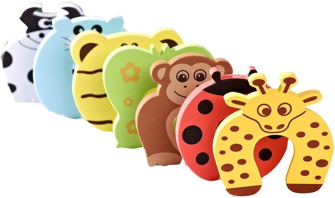 6X Baby Safety Foam Door Jammer Guard Finger Protector Stoppers Animal  M Ho