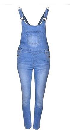 4286a929970 CELEBMODELOOK K81 Girls Dungaree Full Length Jumpsuit Pinafore Overall 7-14 Denim  Kids Jeans (Light WASH Denim