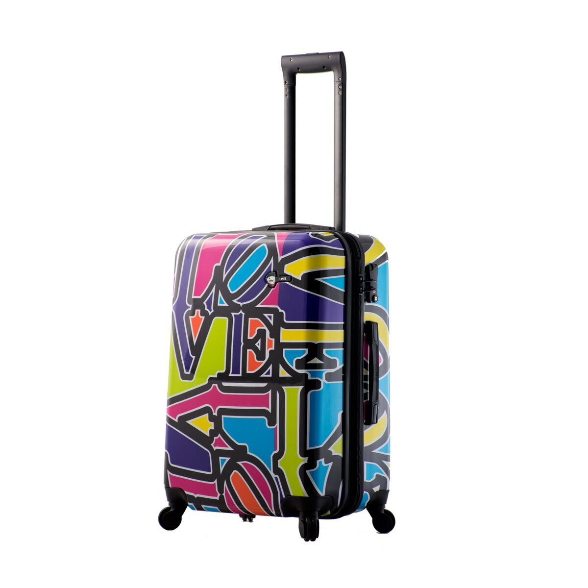 Mia Toro Love Collection Hard Side 24 Inch Spinner, Lcp, Love Collection Purple