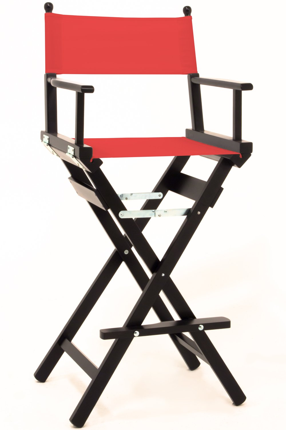 Professional Makeup Artist Chair, Black Painted FSC Wood, includes Canvas Set (Black) Personalise Online