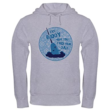 b152930ab CafePress Elf Mr. Narwhal Quote Pullover Hoodie, Classic & Comfortable Hooded  Sweatshirt Heather Grey