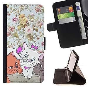- Queen Pattern FOR Samsung Galaxy S4 IV I9500 /La identificaci????n del cr????dito ranuras para tarjetas tir????n de la caja Cartera de cuero cubie - kittens floral wallpaper car