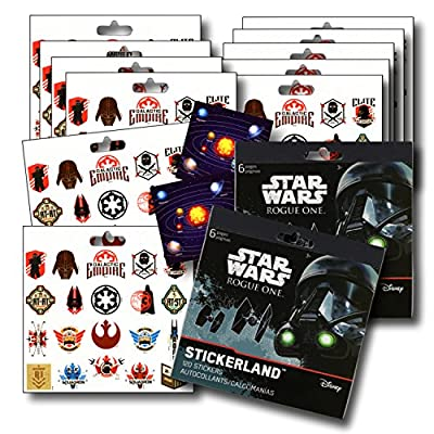 ROGUE ONE Stickers Party Favors - Bundle of 12 Sheets 240+ Stickers plus 2 Specialty Stickers!