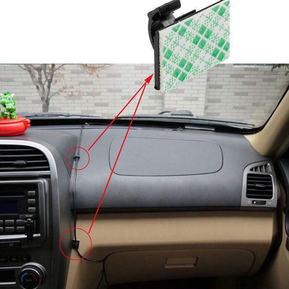 30pcs Wie abgebildet B/üro und Zuhause Tookie 30 St/ück Selbstklebende Kabel-Clips Auto Fahren Recorder Kabel Feste Halterung C Typ Clips Mehrzweck Draht Kabelklemme f/ür Auto