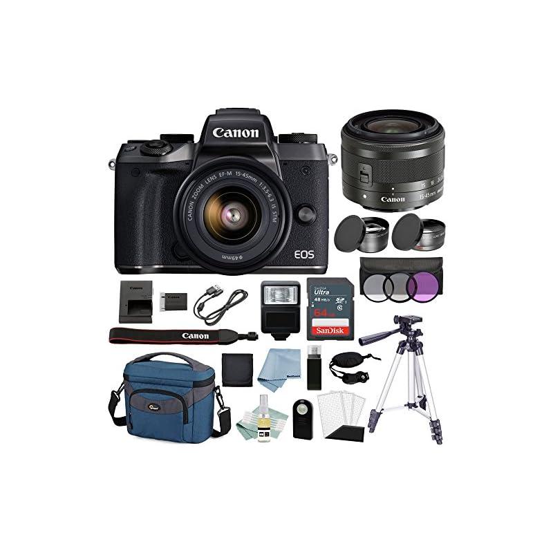 Canon EOS M5 Digital Camera (Black) with