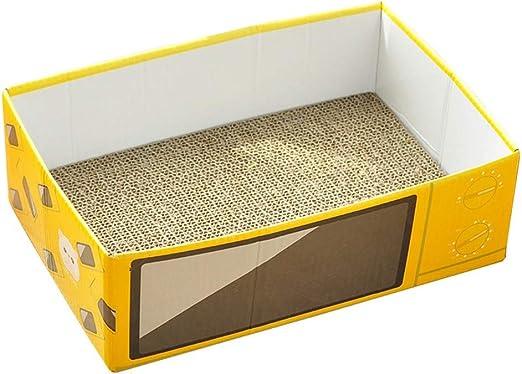 YJJSL suministros para mascotas, cama para gatos, caja de cartón para rascar gatos, diseño de dibujos animados corrugados: Amazon.es: Productos para mascotas