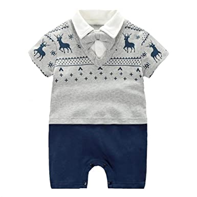 Fairy Baby Coole Baby Strampler Jungen Kurzarm Outfits Babymode