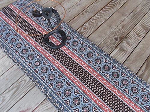 Horse Shoe Quilted Fabric Table Runner or Sideboard Runner 53 inches