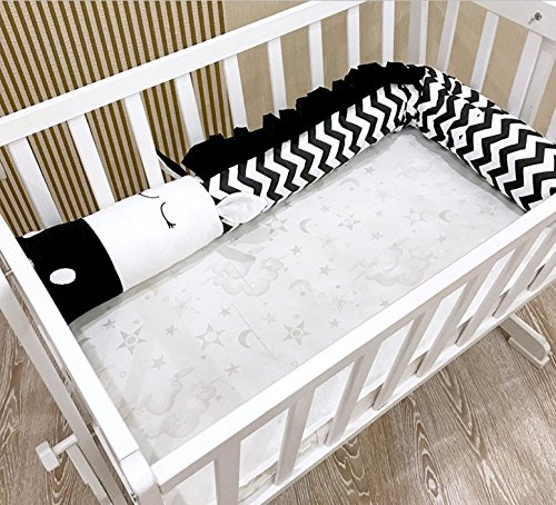 Baby Crib Bumpers Protective Pillow Cushion Babies Bed Bumper Home Decoration (300cm/118 Zebra)