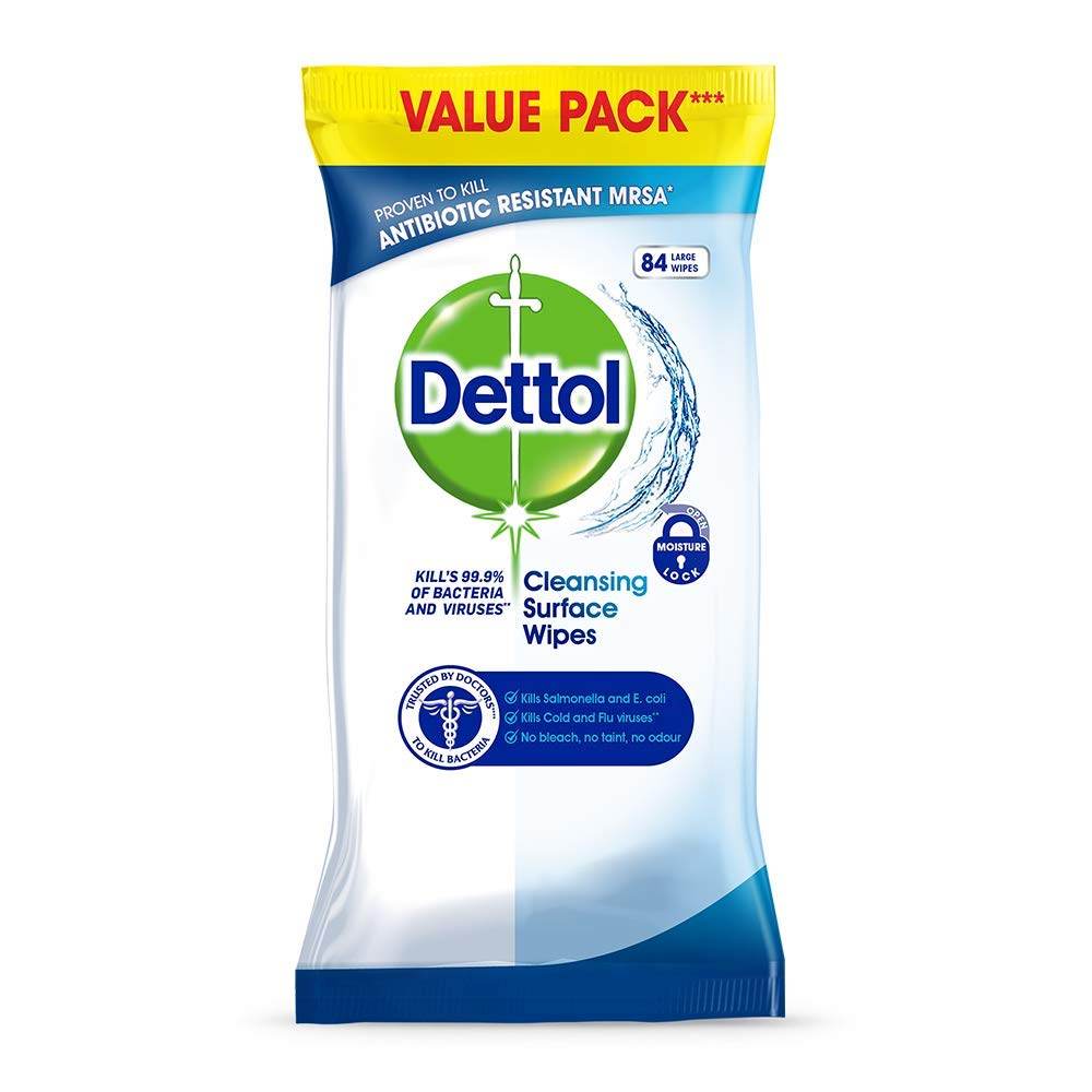 Dettol Antibacterial Surface Cleaning Wipes 252 Pack Of 3 X Antiseptic Liquid 500 Ml 2 Pcs Flash 84 Prime Pantry