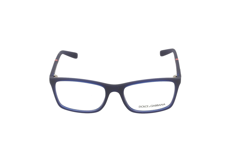 9d2078571886 DOLCE   GABBANA DG 5004 Eyeglasses 2981 Opal Blue Rubber 55-17-135   Amazon.co.uk  Clothing