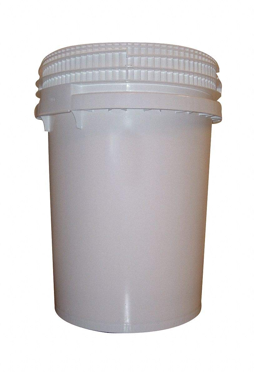 12.2 gal. High Density Polyethylene Round Pail, White