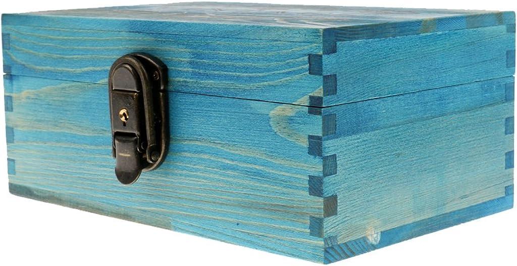 Desconocido Cajas de Joyería Antiguo con Bloqueo Metal y Llave Pecho Baratija