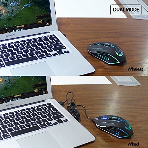 54690469107 50%OFF Wireless Gaming Mouse Up to 7200 DPI, UHURU Rechargeable USB Mouse  with