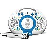 Singing Machine iSM398BT Karaoke, Blu/Bianco