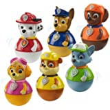 Set of 6 Paw Patrol Weebles Wobble Toys