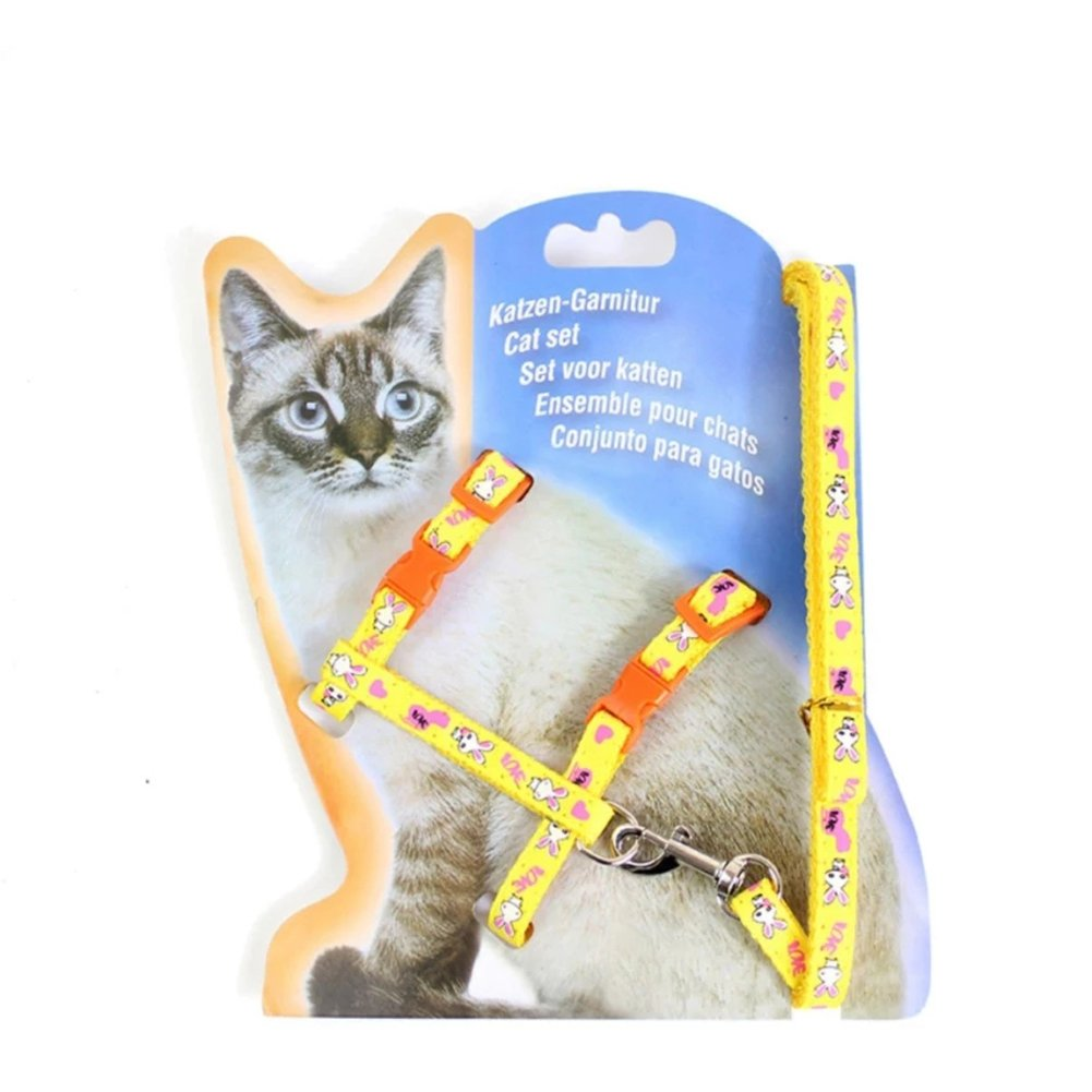 Pet Supplies : Pethouzz Pet Cat Chest Harnesses Collar Traction Rope Walking Control Leash (Yellow) : Amazon.com