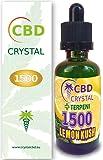 E-liquido CBD CRYSTAL1500lemonhaze 50ml - Liquido para Cigarrillo electronico. E-Liquid SIN NICOTINA. Sabor Sativalemon no Nicotine no Tobacco