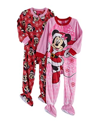 672a48006 Amazon.com  AME Minnie Mouse Fleece Footed Pajama Toddler Girls ...